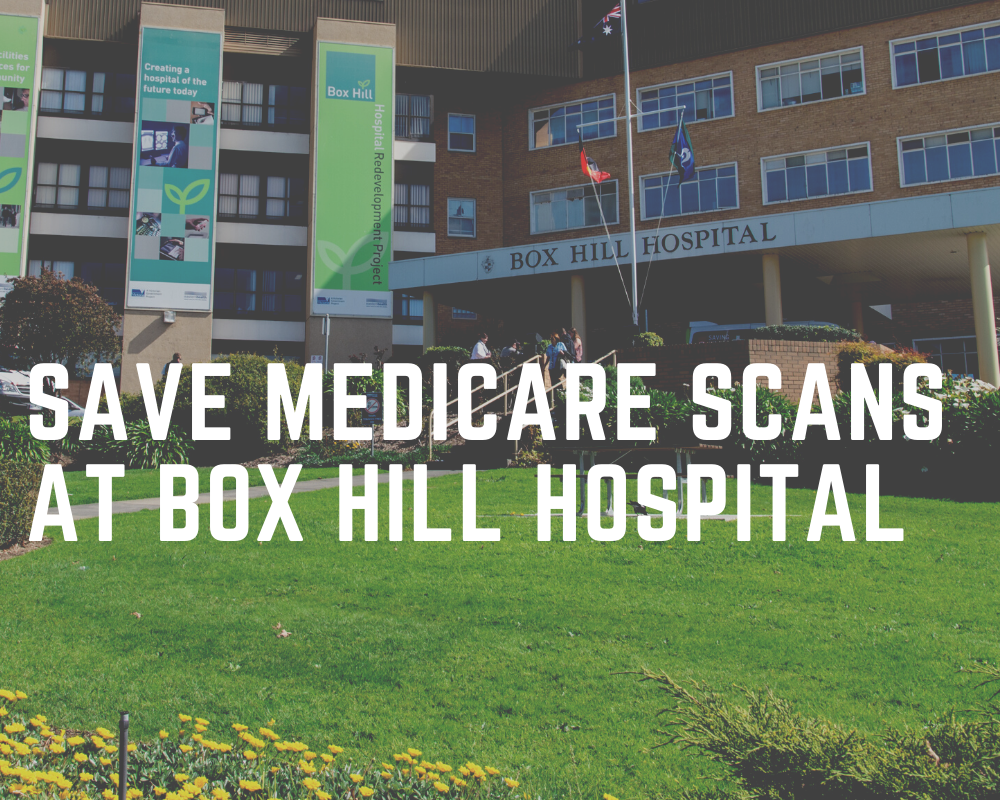 Save Medicare scans at Box Hill Hospital