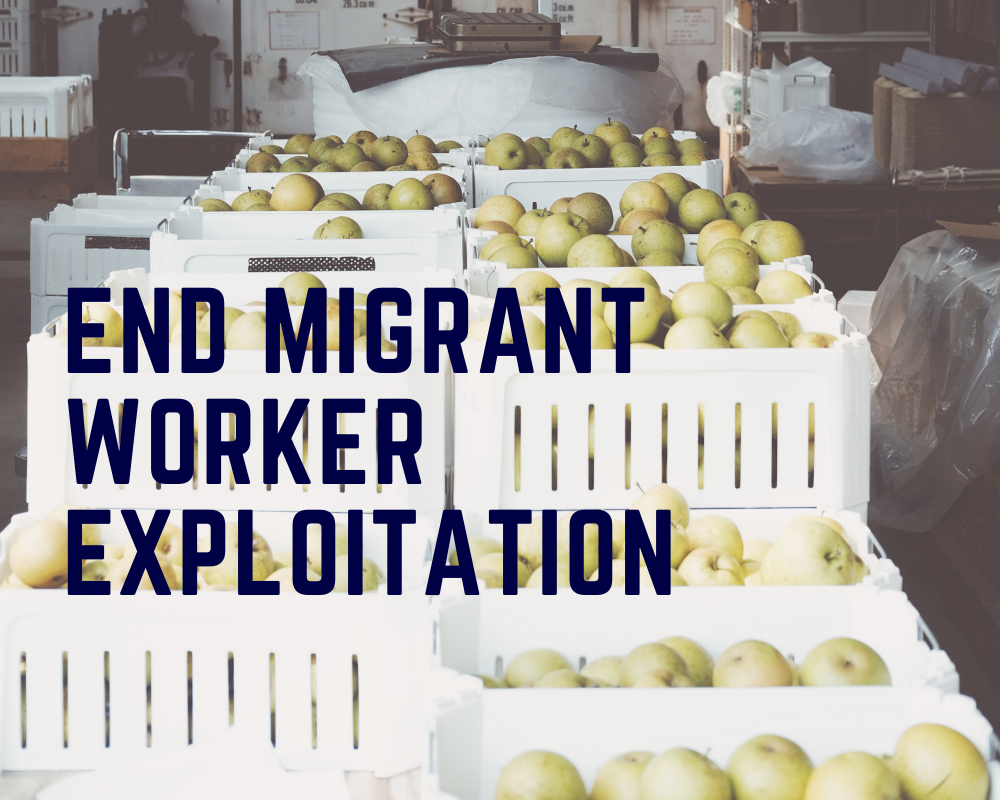 End migrant worker exploitation
